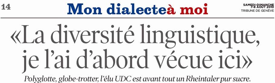 """""""La diversité linguistique"""" (Roland Rino Büchel)"""