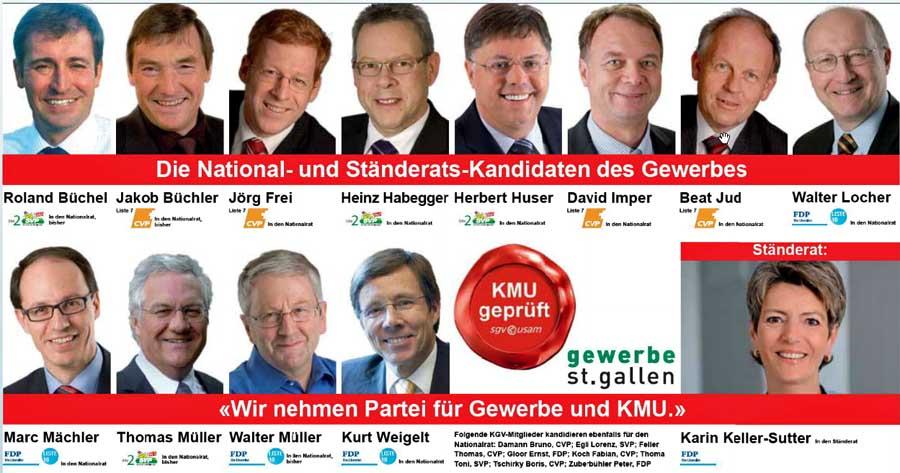 Roland Rino Büchel: Wahlen 2011 - KMU geprüft im Kanton St. Gallen