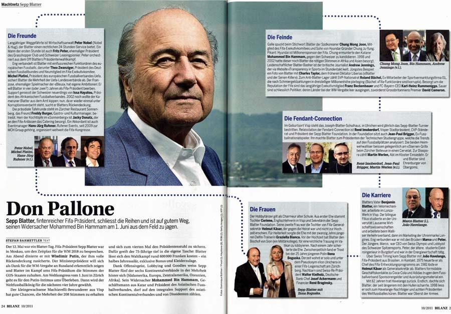 Sepp Blatter: Freunde und Feinde (BILANZ)