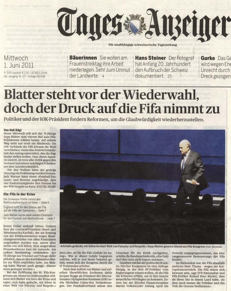 Sepp Blatter vor Wiederwahl: Doch der Druck nimmt zu
